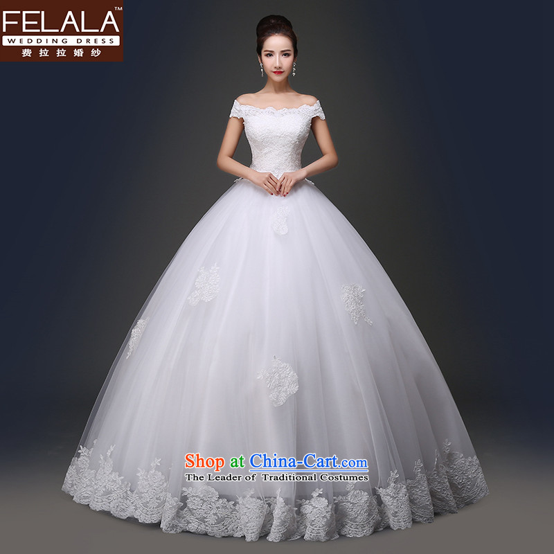 Ferrara?in spring and summer 2015 new sweet word shoulder lace foutune align to bon bon wedding?XL(2 feet 2)