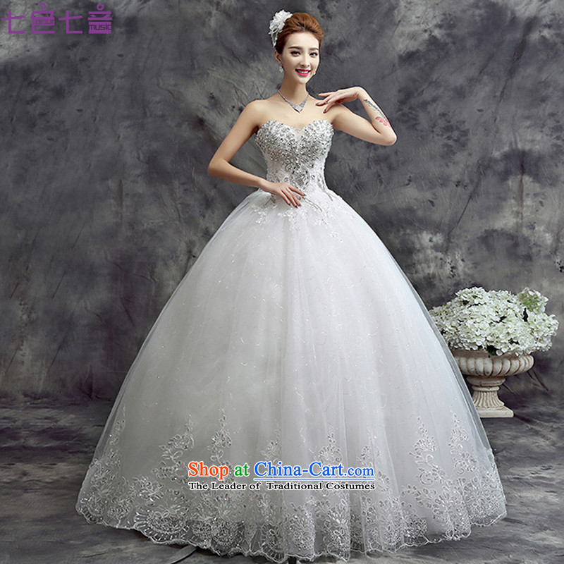 7 Color 7 tone Korean Word 2015 new shoulder straps Sau San Korean brides wedding dresses�H071�wiping the Chest) tailored does not allow