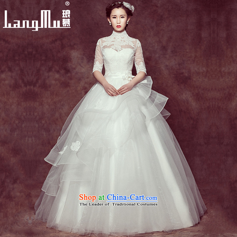 The new spring 2015 Luang stylish Korean word wedding shoulder wedding minimalist bride wedding dresses, a�C 128 Advanced Customization