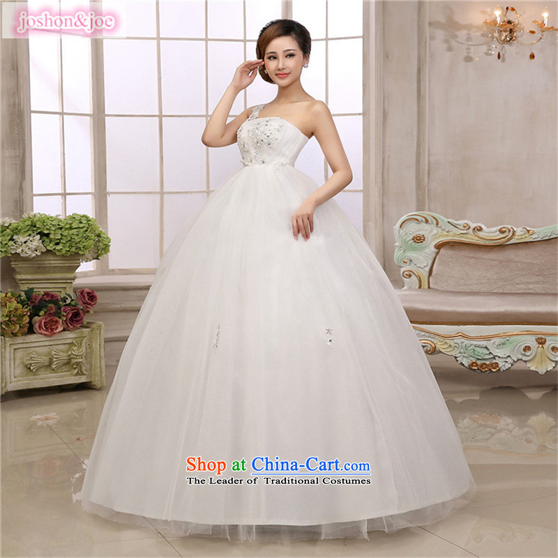 Wedding dress pregnant women wedding Korean high waist straps then your shoulders to pregnant women thick MM bride larger winter grants gross shawl White�XXL