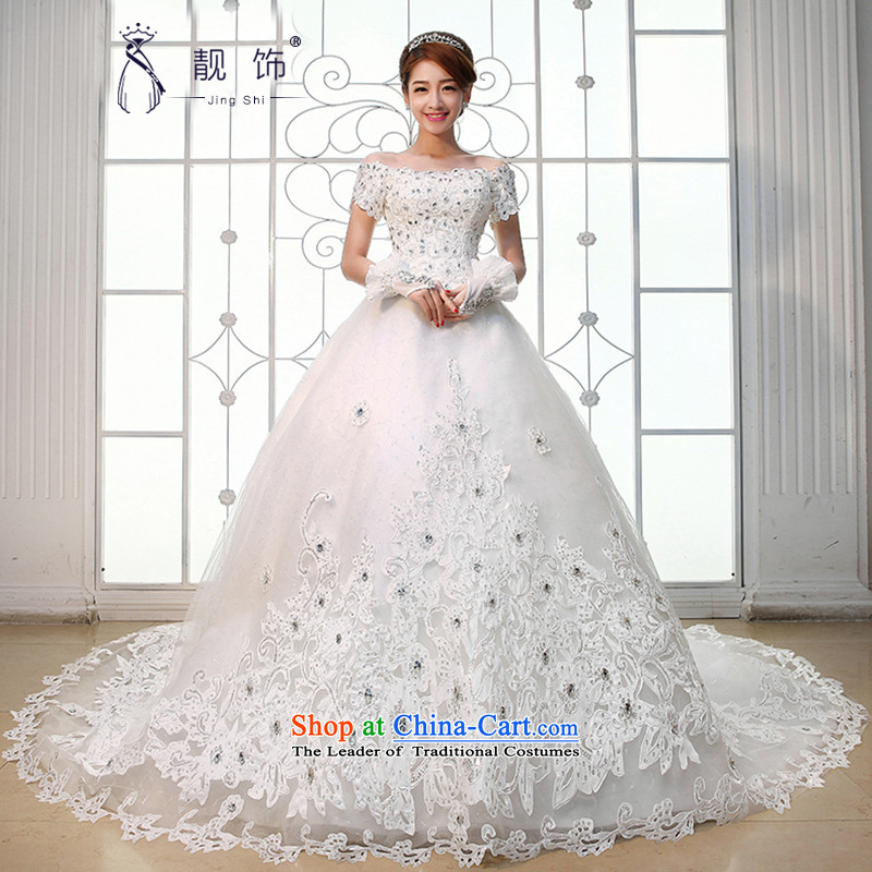 The new 2015 International Friendship Wedding Korean Version to align the thin word marriages shoulder wedding white streak of�M