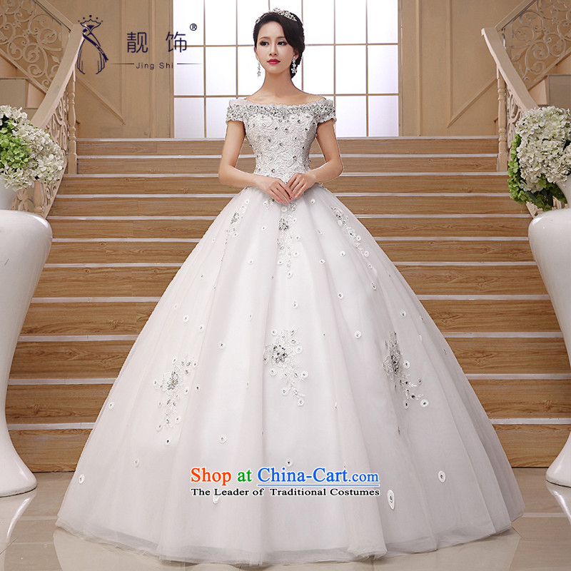 The talks with wedding new 2015 Asian layout to align the retro graphics thin luxury water drilling package word shoulder shoulder wedding white light drill�L luxury