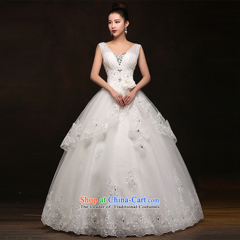 Hei Kaki wedding dresses聽2015 new nobility and stylish shoulders lace bon bon petticoats align to bind with wedding DJ61 long head yarn聽XL
