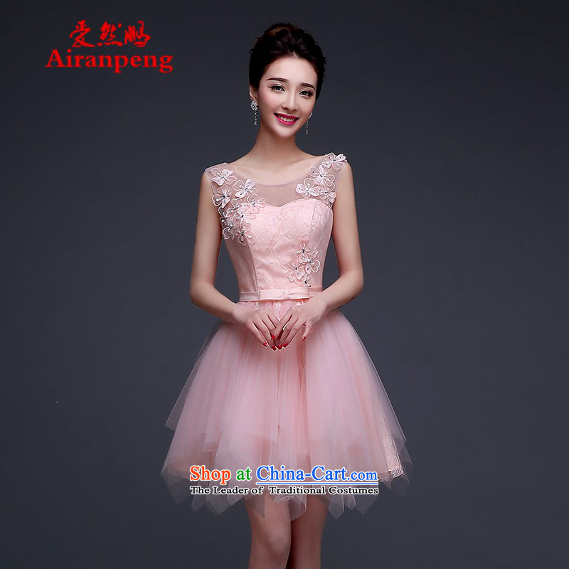 Evening dress Bridal Fashion new spring 2015, pink short of marriage bows Services Mr Ronald banquet betrothal small dress female�XL package returning