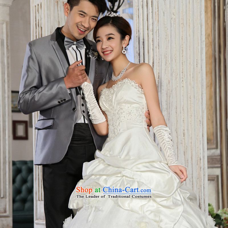 Special offers 10 seconds killed! 2015 New Wedding Korean straps and Princess Bride chest wedding dresses to align the white?M