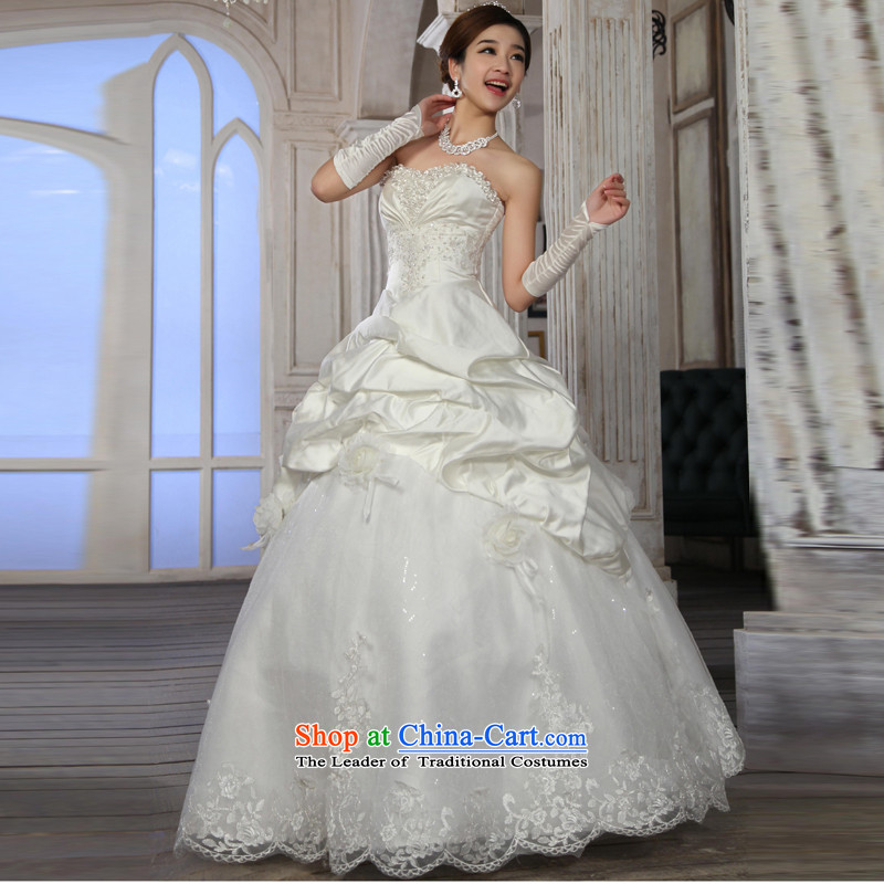 Special offers 10 seconds killed! 2015 New Wedding Korean straps and Princess Bride chest wedding dresses to align the white M Yue the married arts , , , shopping on the Internet