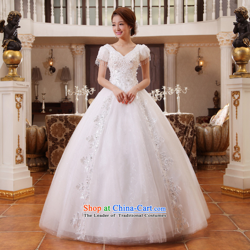 Wedding dresses the new version of the Word 2015 won shoulder in spring and summer package shoulder strap with bride thin white to align graphics white聽S