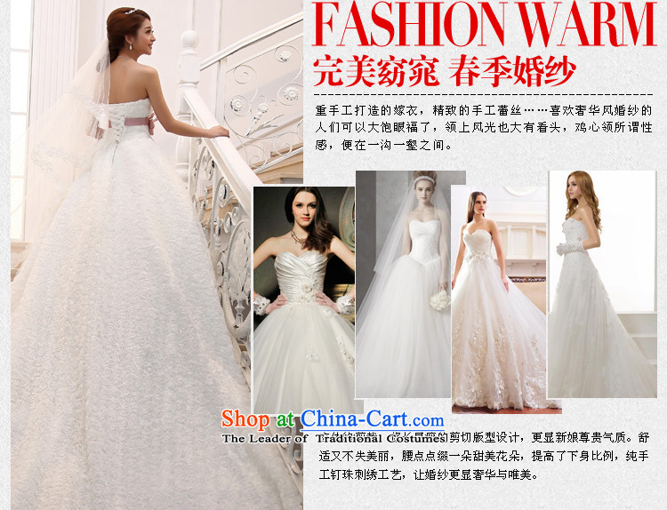 Wedding 2015 new white long tail bride Korean Deluxe water drilling and chest tail White聽XL Photo, prices, brand platters! The elections are supplied in the national character of distribution, so action, buy now enjoy more preferential! As soon as possible.