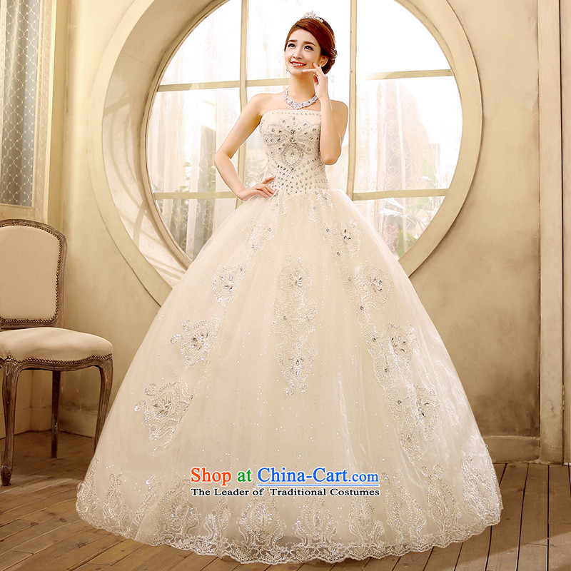 2015 new anointed chest video thin wedding dresses minimalist version to align the Korean drill with water drilling White?M