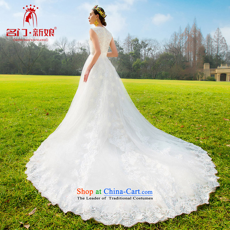 A?new bride 2015 lace tail wedding style and simplicity of the luxuriously designed drill A571 S