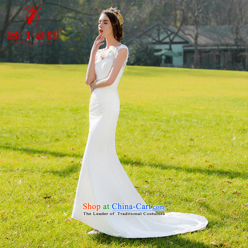 A new bride 2015 lace crowsfoot Korean sweet princess small tail Sau San wedding dresses 230 M