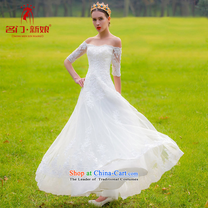 A new bride 2015 lace a field in shoulder cuff wedding bon bon princess wedding video thin 546 L