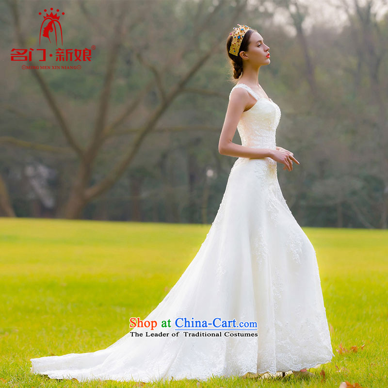 A bride wedding dresses�2015 new Korean Princess Mary Magdalene chest sweet lace tail wedding�956 M