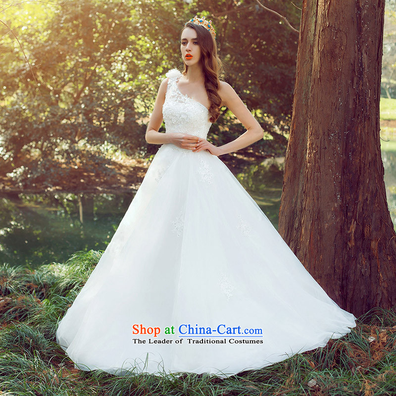 A Bride 2015 stylish shoulder wedding manually stereo bon bon princess romantic wedding lace 578 M, a bride shopping on the Internet has been pressed.