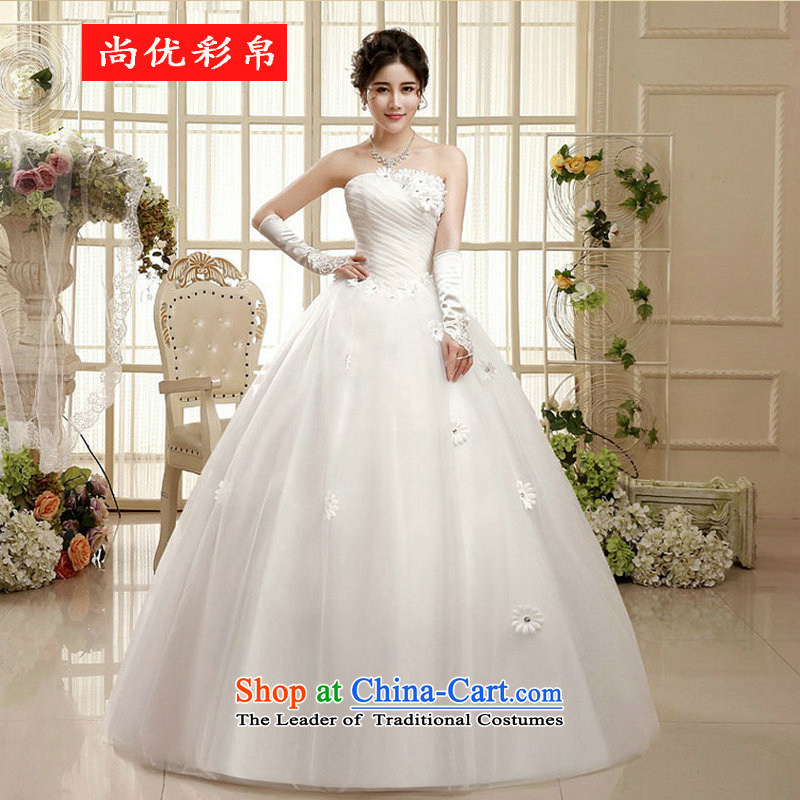There is also optimized 8D Wedding 2015 new Korean brides large wiping the chest pregnant women married to align the Korean style wedding xs5212 White?XL