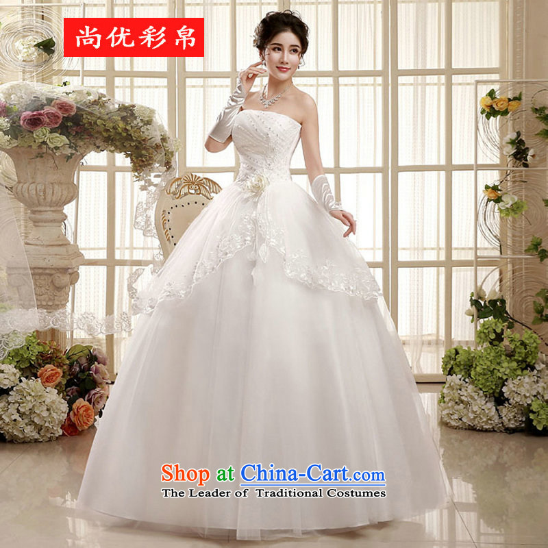 There is also optimized 8D 2015 Korean bridal dresses pregnant women waist straps to align the large graphics thin marriage wedding xs5545 m White�XL