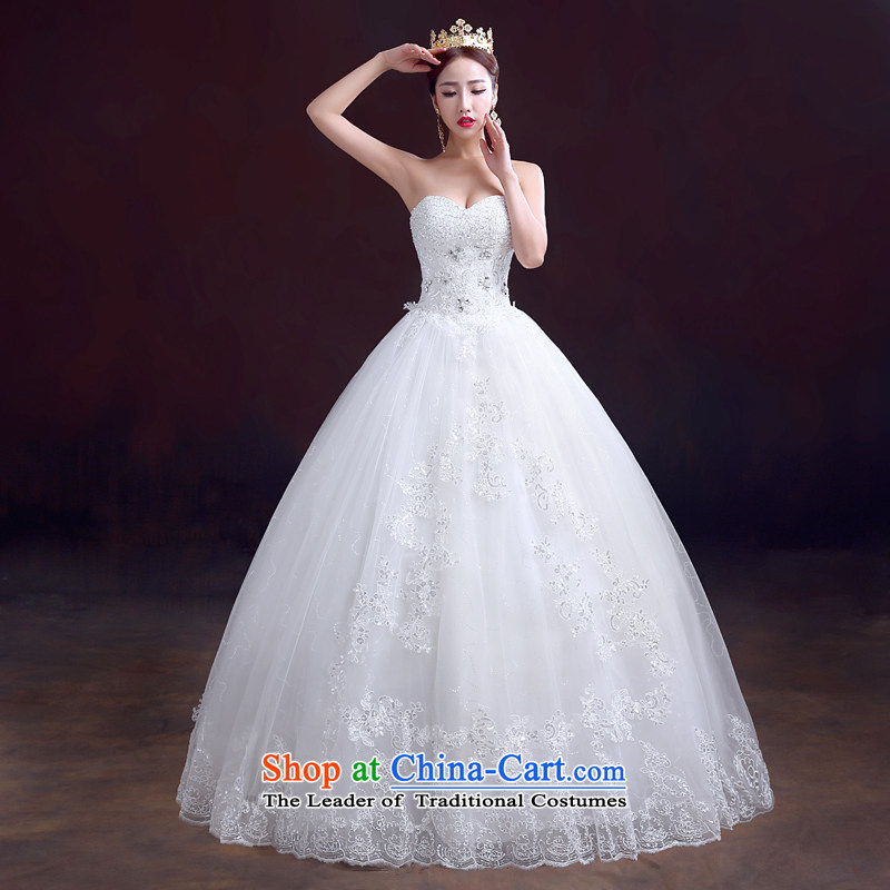 The dumping of the wedding dress new 2015 winter wedding dresses and chest straps to) Wedding Diamond White marriage video thin wedding White M