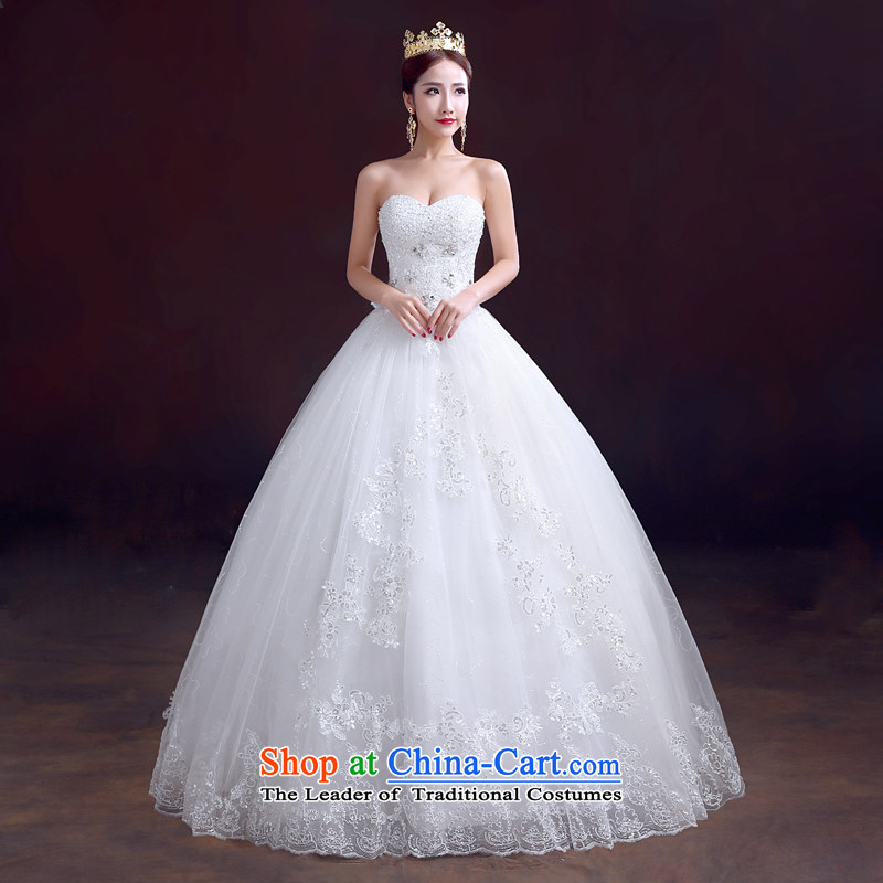 The dumping of the wedding dress new 2015 winter wedding dresses and chest straps to) Wedding Diamond White marriage video thin wedding White M, soothe the wedding dress shopping on the Internet has been pressed.