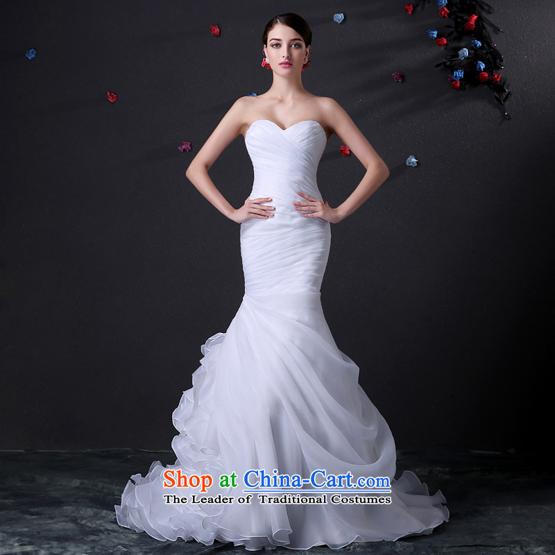 Custom dressilyme wedding by 2015 spring pressure wiping the chest folds stylish crowsfoot niba skirt wedding fashion tight grasp the strap folds bride dress ivory - no spot 25 day shipping tailored