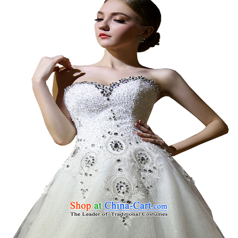 Hei Kaki 2015 New Asian layout with chest deluxe tail light drill lovely luxurious wedding�DJ31 Bow Tie�White�XL