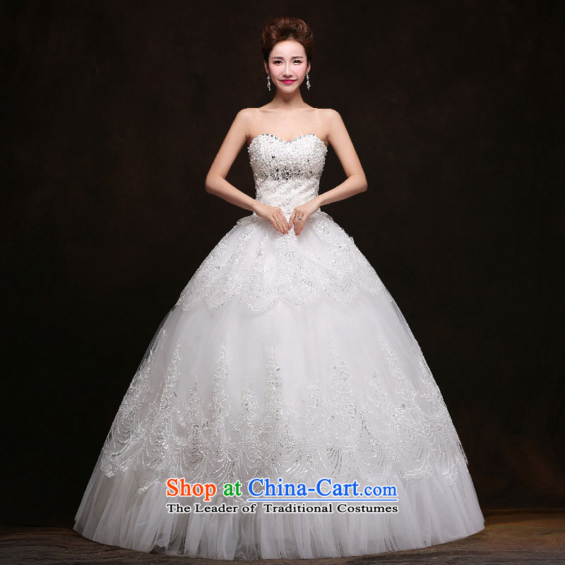 Qing Hua yarn wedding dresses new spring 2015 marriages video thin Korean Sau San tie alignment with chest white made size does not accept return