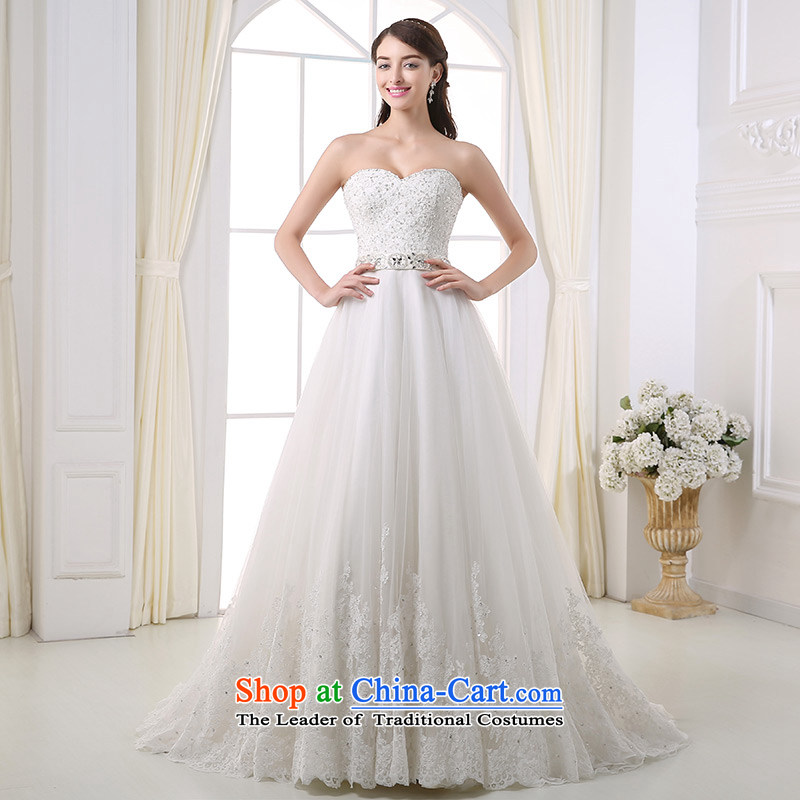 Custom dressilyme wedding lace anointed by 2015 chest diamond belt bon bon princess wedding Sau San zipper tail luxury bridal dresses ivory - no spot 25 day shipping XS