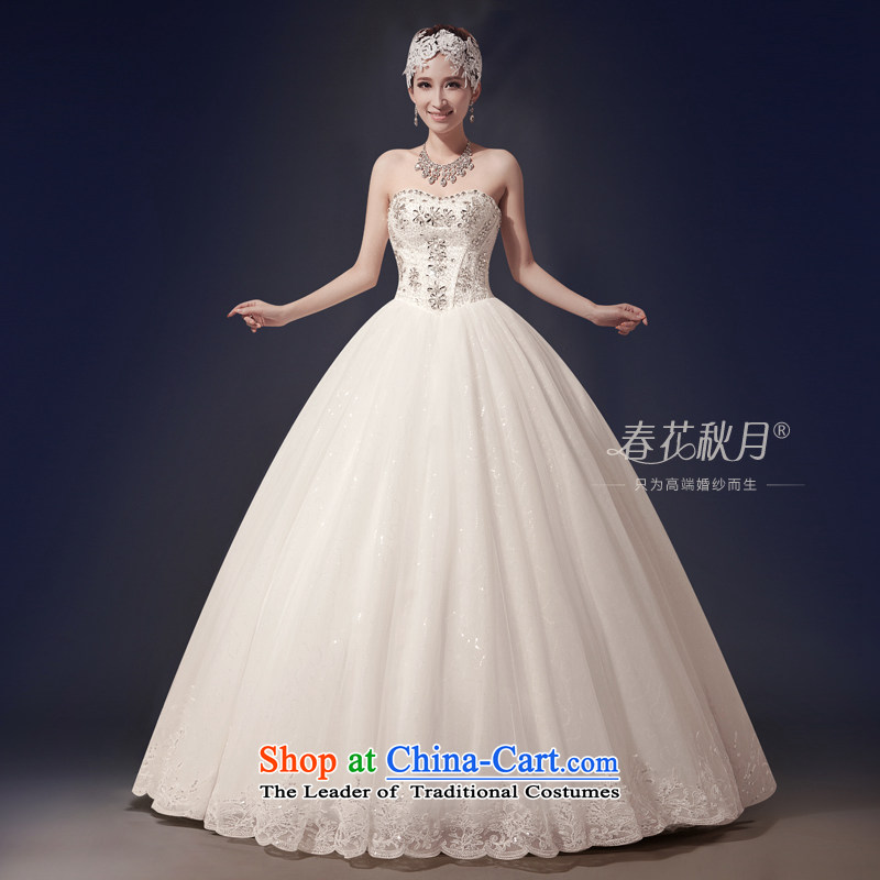 Wipe the chest wedding dresses upscale bride new 2015 Korean to align graphics thin large spring Sau San retro Diamond White�S