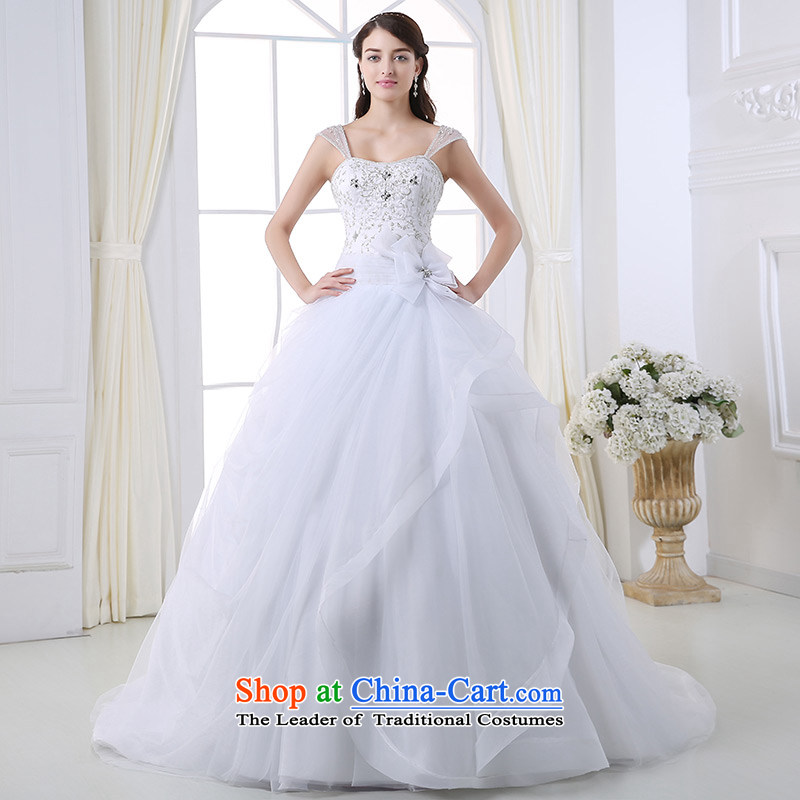Custom dressilyme wedding by 2015 lace strap diamond bon bon princess wedding flower grasp manually pleated skirts strap tail bridal dresses ivory - no spot 25 day shipping?XL