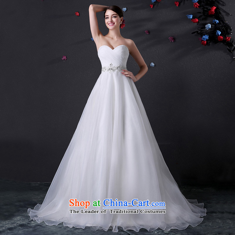 Custom dressilyme wedding anointed by 2015 chest diamond belt large tail A Version field wedding Sau San zipper minimalist bridal dresses ivory - no spot 25 day shipping?XXXL