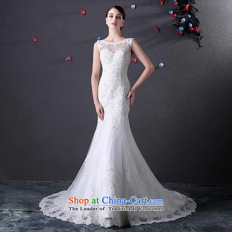 Custom dressilyme wedding by 2015 a field for elegant lace diamond crowsfoot wedding V back zipper luxury tail bridal dresses ivory - no spot 25 day shipping�XXSTOXL)