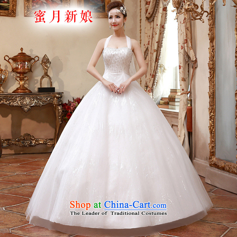 �The spring of 2015, the female bride honeymoon video thin snap to hang also wedding dresses simple and refreshing wedding White�M