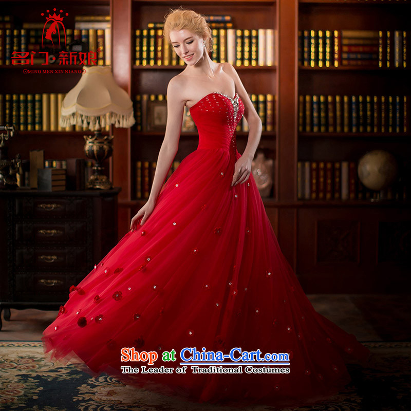 A Bride wedding dresses spring 2015 Red wedding flower bows services 2553 manually red L