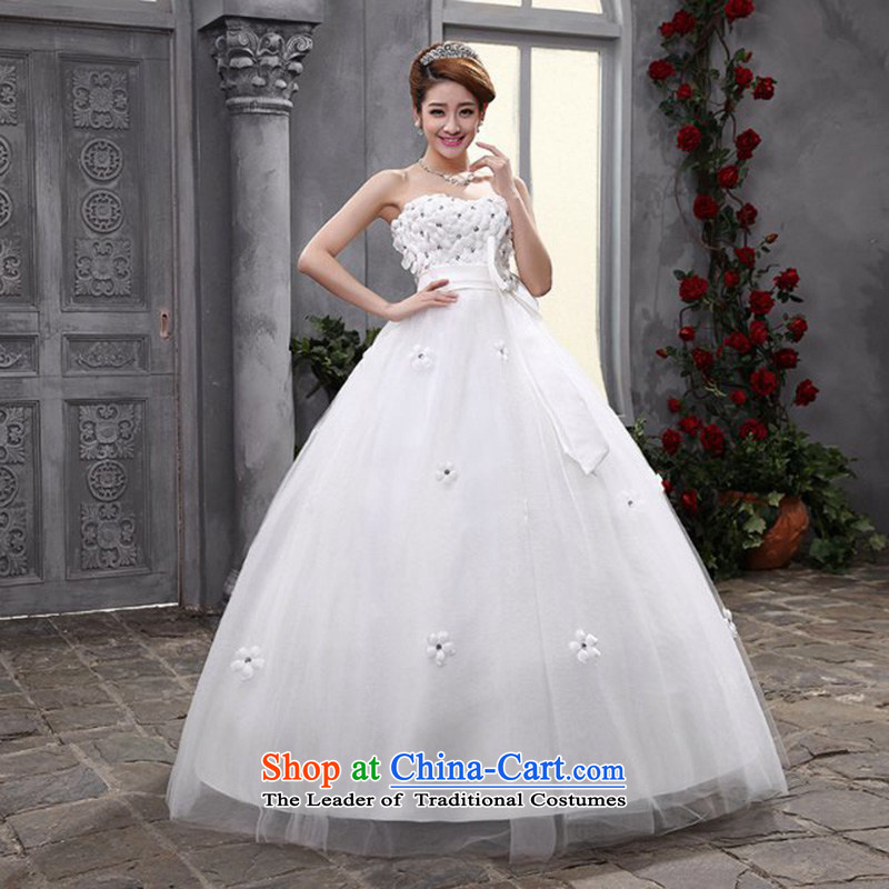 Pregnant women wedding new anointed chest 2015 Korean brides wedding dresses Top Loin of pregnant women with wedding white聽L