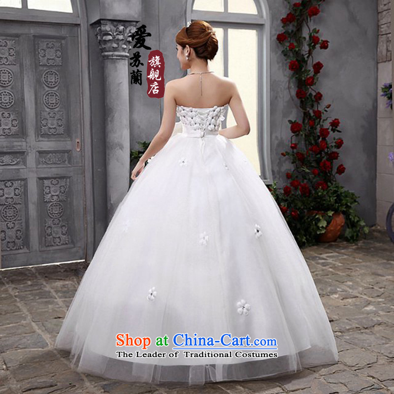Pregnant women wedding new anointed chest 2015 Korean brides wedding dresses Top Loin of pregnant women with white wedding聽, L, Love Su-lan , , , shopping on the Internet