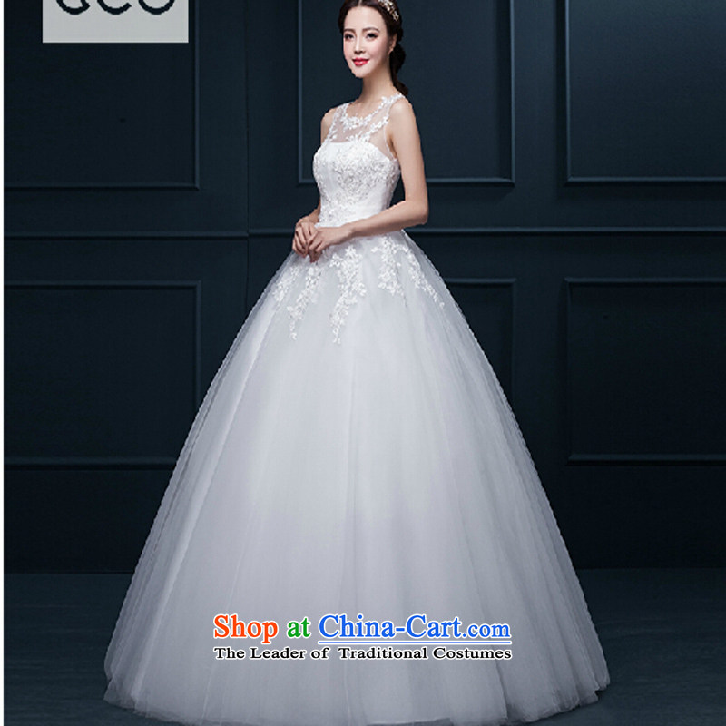 Wedding dresses 2015 Spring New Korean minimalist shoulders to align graphics thin marriages a field shoulder upscale wedding聽XXXL White