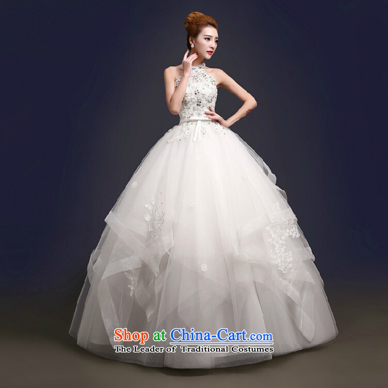 The color is sa聽2015 new rules do not wipe chest Summer Wedding Fashion waves petticoats bridal wedding dresses and chest straps diamond jewelry wedding dress white wall also,聽 L