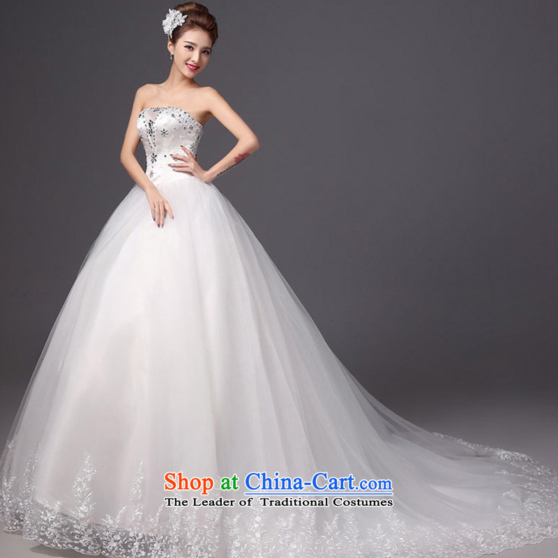 The autumn and winter 2015 new products new stylish wedding anointed chest tail bride wedding dresses Sau San video thin white tie, white color is Mona Lisa, the , , , shopping on the Internet
