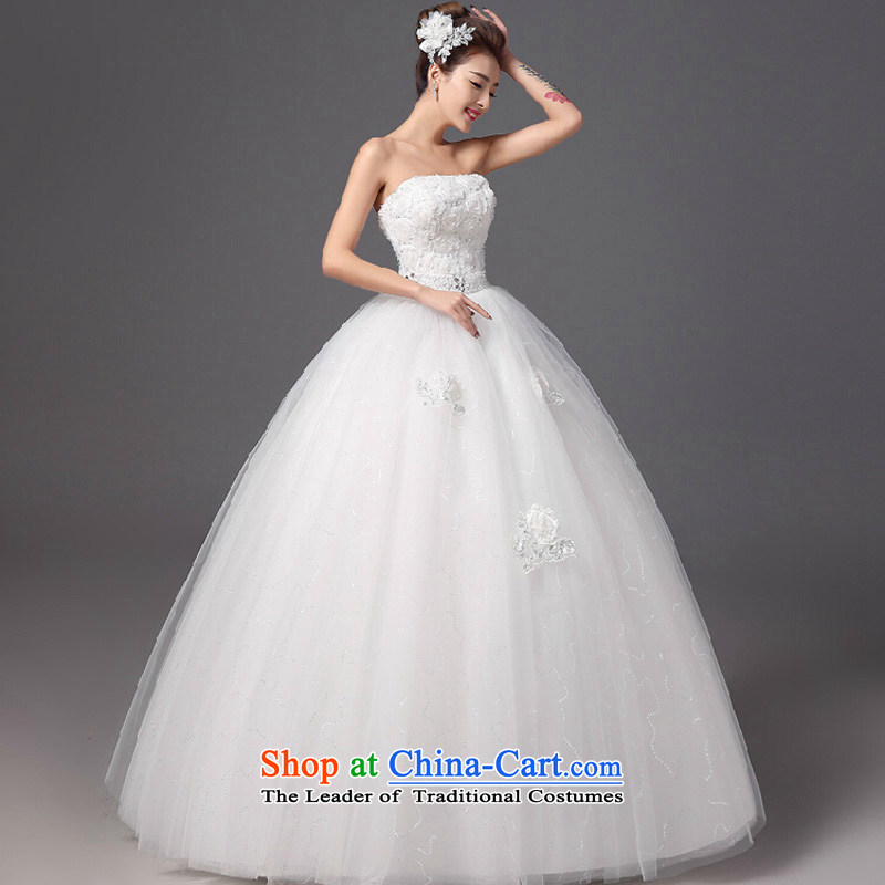 2015 Autumn and winter new flower anointed chest wedding dresses and stylish graphics thin bride align Sau San to wedding white color is Mona Lisa, the , , , shopping on the Internet