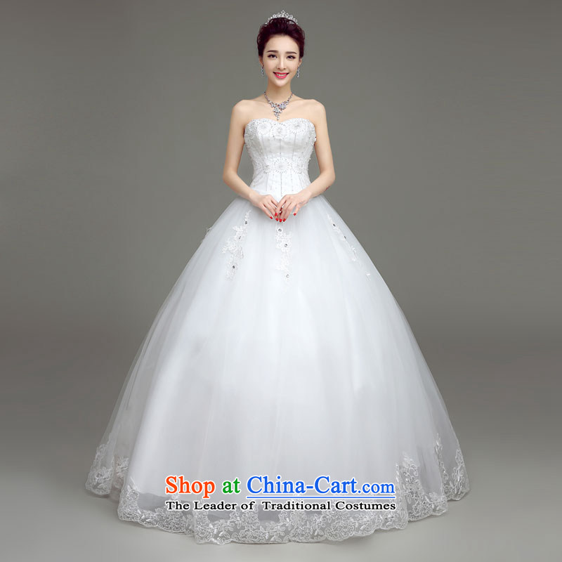 In accordance with the Netherlands varies with the wedding dress in spring and summer 2015 new wedding fashion and won high-end antique chest to bride anointed wedding White?XL