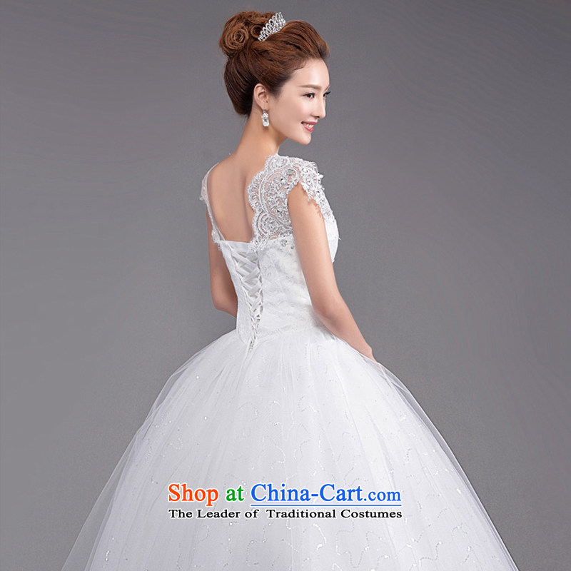 (Heung-lun's Health 2015 new Korean fashion shoulders to align the V-Neck bride Sau San video thin lace retro large white wedding white L, incense, , , , Dell Online Shopping