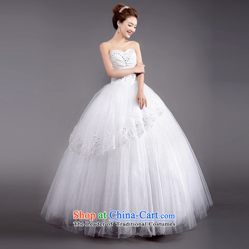 (Heung-lun's Health 2015 wedding dresses female new spring Korean brides-Princess sexy wiping the chest to marriages?XXL
