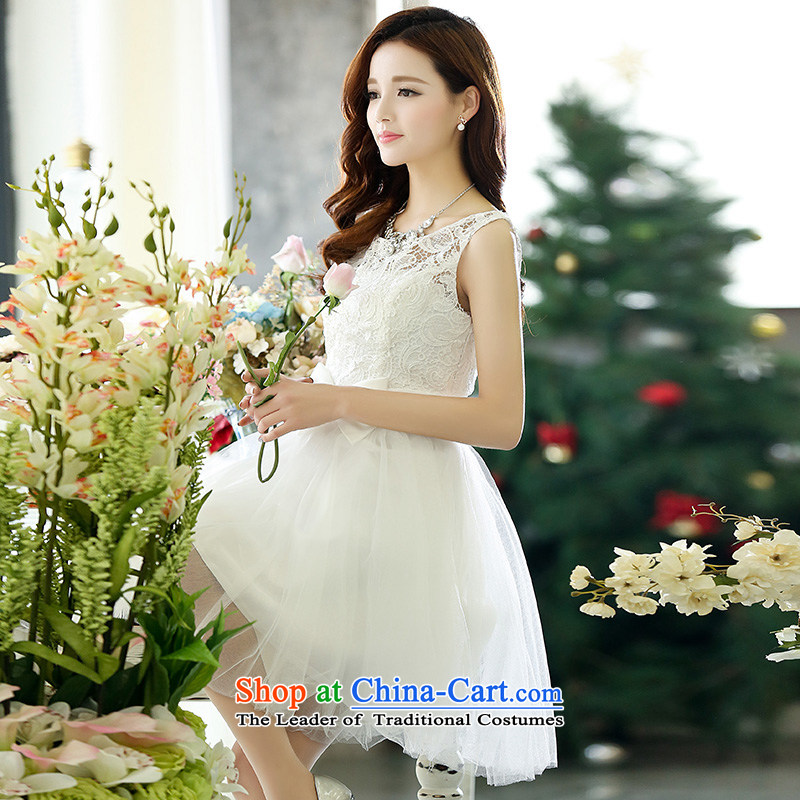 Dream Is bridesmaid wedding dress 2015 new short, red autumn bridesmaid service banquet White XL