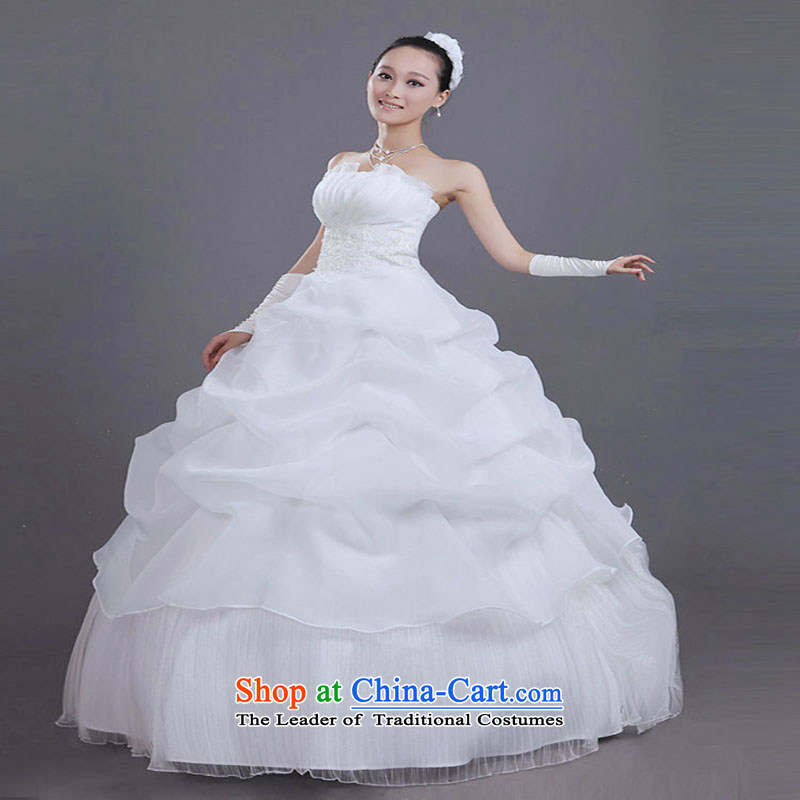 With the Chinese New Year 2015 wedding Korean Princess Mary Magdalene chest video thin bon bon skirt bride wedding dresses photo building wedding dress outside view picture theme binding with the?S