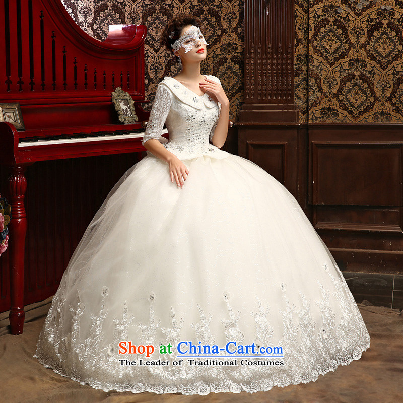 Su Xiang edge聽in the new 2015 cuff thin lace stylish graphics marriage wedding dresses dolls collar bon bon skirt gets married yi field shoulder wedding White聽XL