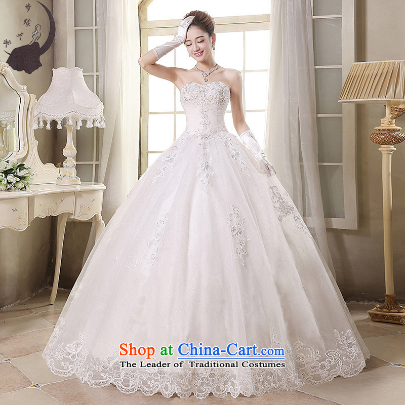 The leading edge of the days of the wedding dresses 2015 new autumn and winter, Japan and the ROK to erase chest tail graphics thin foutune Align to align the wedding dress 1701 to M