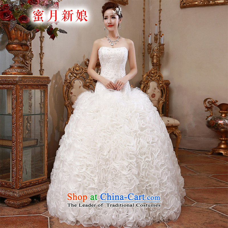 聽 The spring of 2015, the bride honeymoon new women and one Field shoulder edging diamond lace align to bon bon red wedding white聽L
