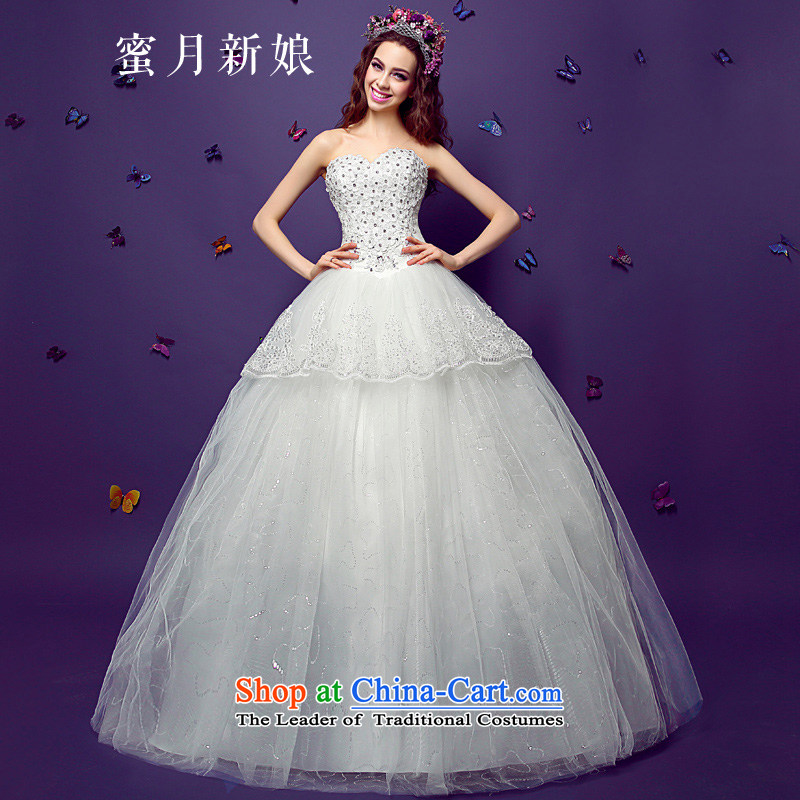 聽 The spring of 2015, the bride honeymoon new products on-chip chest anointed female flowers on diamond-bon bon princess to align the wedding white聽L