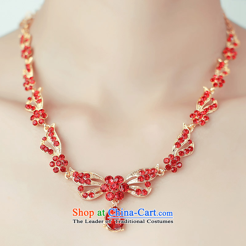A Bride wedding dresses 2015 Spring bride necklace red/white?111?red