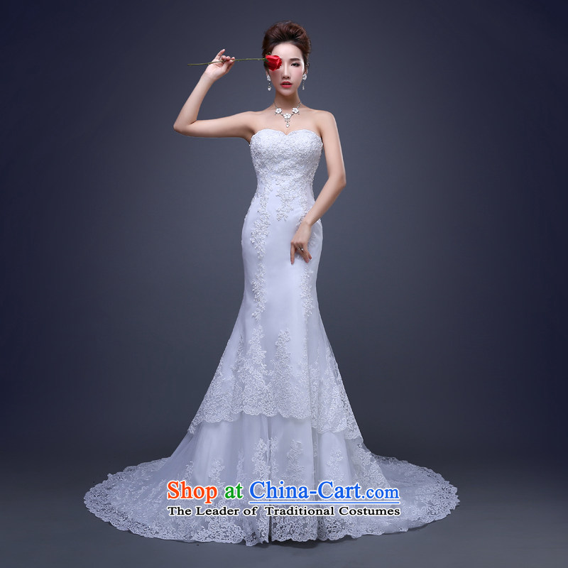 Jie mija new 2015 Spring/Summer wedding dresses to drag the smearing bride white?L