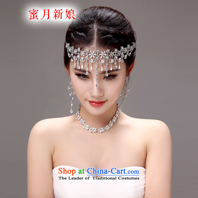 Honeymoon Bride Korean style new bride of international posts and that the members of the international marriage header link hair accessories wedding jewelry accessories White Picture Color
